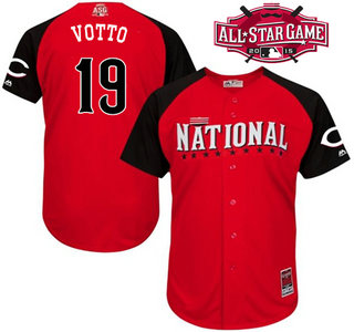 National League Cincinnati Reds #19 Joey Votto Red 2015 All-Star Game Player Jersey