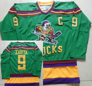 b495c255c Men s Mighty Ducks of Anaheim  9 Paul Kariya 1991-92 Green CCM Vintage  Throwback Jersey