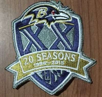 2015 Baltimore Ravens 20th Anniversary Patch