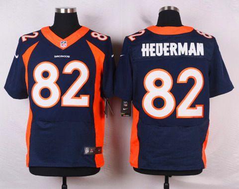 finest selection 2d5d3 f267f Men's Denver Broncos #82 Jeff Heuerman Navy Blue Alternate ...