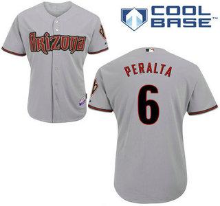 watch 13d98 2658e Men's Arizona Diamondbacks #6 David Peralta Away Gray MLB ...