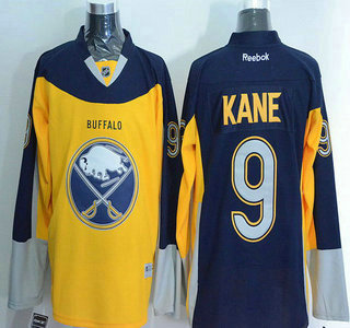 factory authentic 60517 60a08 Men's Buffalo Sabres #9 Evander Kane Reebok Gold Alternate ...