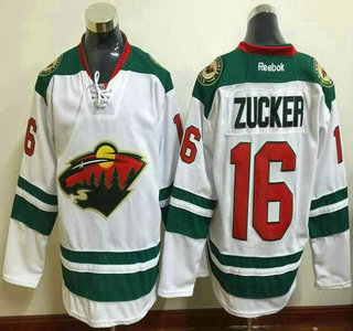 Men S Minnesota Wild 16 Jason Zucker Green Third Jersey On Sale