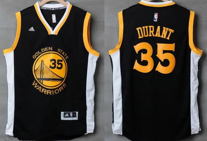 size 40 62f8e 593d7 Men's Golden State Warriors #35 Kevin Durant Black With ...