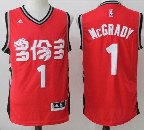Men's Toronto Raptors #1 Tracy McGrady Red Chinese Stitched 2017 ...