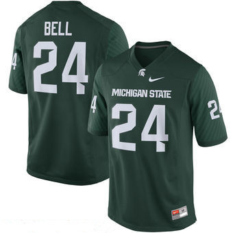 Men's Michigan State Spartans #24 Le'Veon Bell Green Limited Stitched College Football 2016 Nike NCAA Jersey