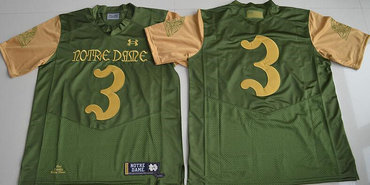 b86df11f0 Men s Notre Dame Fighting Irish  3 Joe Montana Green Stitched College Football  2016 Shamrock Series Under Armour NCAA Jersey