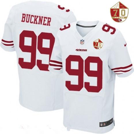 super popular ad79e 250c3 Men's San Francisco 49ers #99 DeForest Buckner White 70th ...