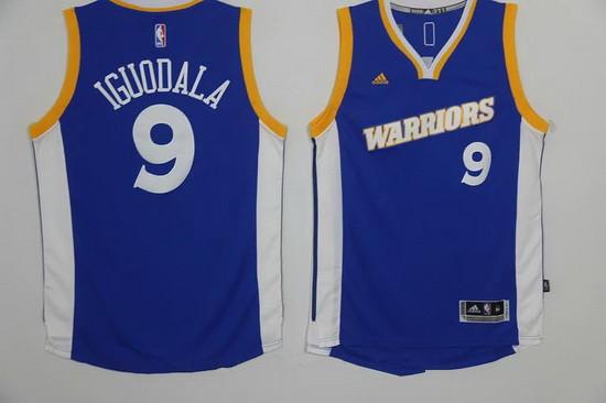 Men s Golden State Warriors  9 Andre Iguodala Blue Retro Stitched NBA 2016  adidas Revolution 30 3749c15c0