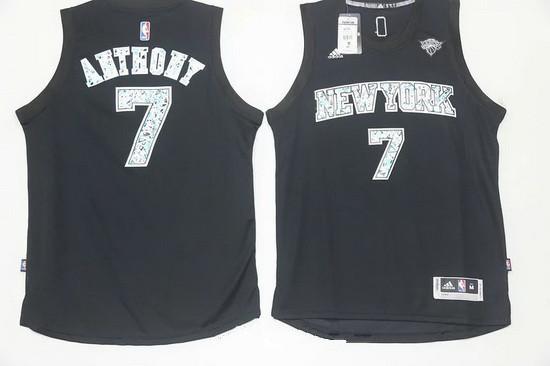 quality design a6b2c d0b1c Men's New York Knicks #7 Carmelo Anthony Black Diamond ...