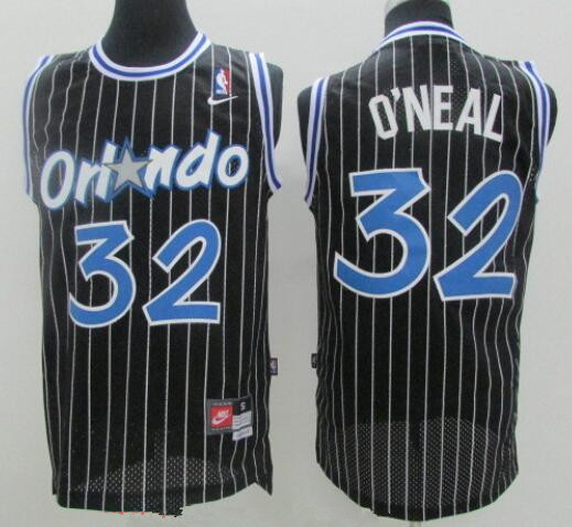 online store b5498 07533 Men's Orlando Magic #32 Shaquille O'neal Black Stitched NBA ...