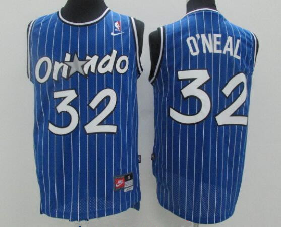 Men's Orlando Magic #32 Shaquille O'neal White Stitched NBA Nike Swingman Jersey