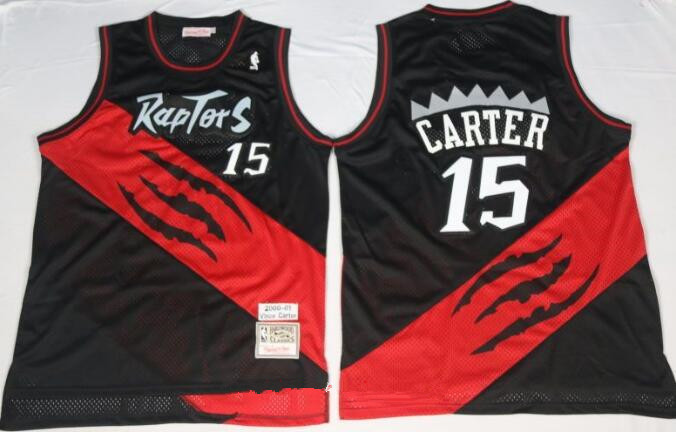 best website f80d2 8884d Men's Toronto Raptors #15 Vince Carter 2000-01 Black ...