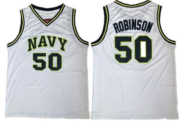 Men's San Antonio Spurs #50 David Robinson The Admiral Soul Navy Swingman Stitched NBA Jersey