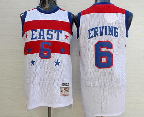1e3e3e1336b NBA 1980 All-Star Men's #6 Julius Erving White Hardwood Classics Soul  Swingman Throwback