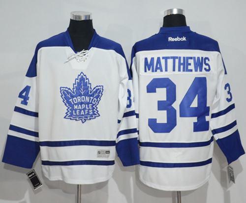 best authentic 27b17 1a9ad Maple Leafs #34 Auston Matthews White Third Stitched NHL ...