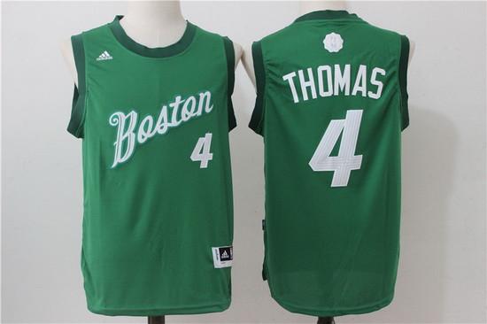 size 40 73b9a 5cb9b Men's Boston Celtics #4 Isaiah Thomas adidas Green 2016 ...