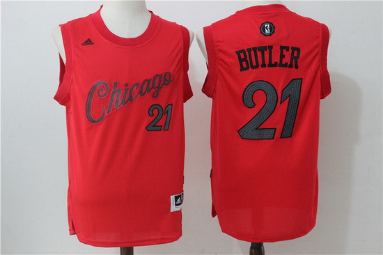 mens chicago bulls 21 jimmy butler red 2016 christmas day stitched nba swingman jersey - Chicago Bulls Christmas Jersey