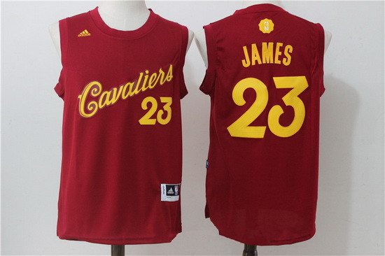 sale retailer c4625 69ba7 Men's Cleveland Cavaliers #23 LeBron James adidas Burgundy ...
