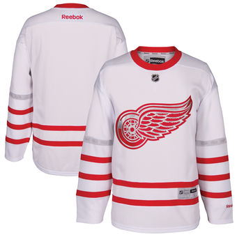 the latest 7d81f 16389 Men's Detroit Red Wings Reebok White 2017 Centennial Classic ...
