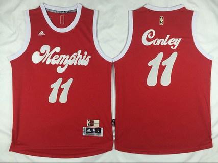 e8e2bbfe606 Men s Memphis Grizzlies  11 Mike Conley Revolution 30 Swingman 2015-16 Retro  Red Jersey