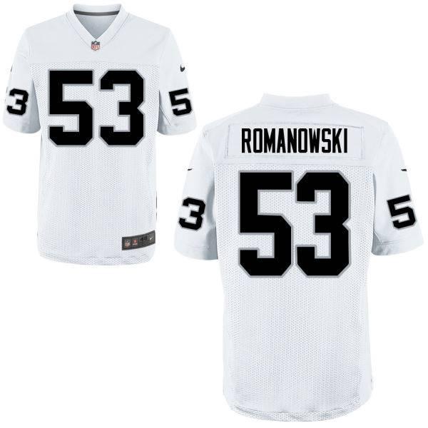2a3b24a92 Men's Oakland Raiders Retired Player #53 Bill Romanowski White NFL Nike  Elite Jersey