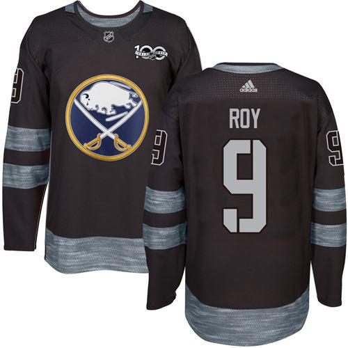 Sabres #9 Derek Roy Black 1917-2017 100th Anniversary Stitched NHL Jersey