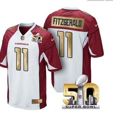Pre Order Arizona Cardinals Jersey 11 Larry Fitzgerald White Super Bowl 50  Limited Jerseys b59194a0a