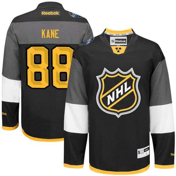 Men's NHL #88 Patrick Kane Reebok Black 2016 All-Star Premier Jersey