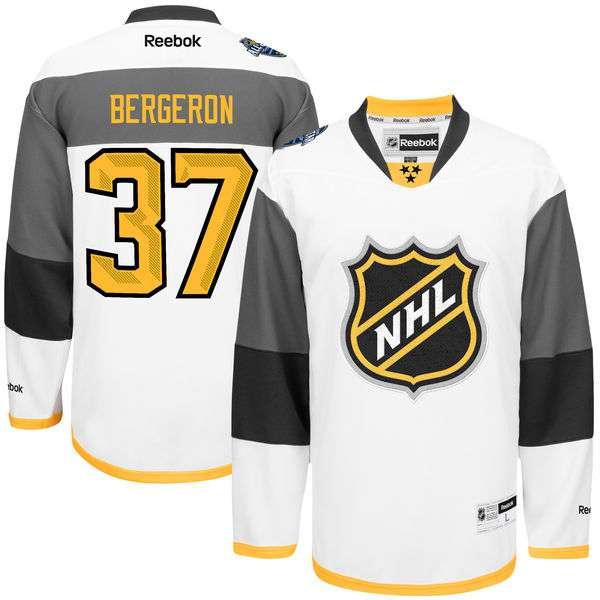 Men's NHL #37 Patrice Bergeron Reebok 2016 All-Star Premier Jersey - White