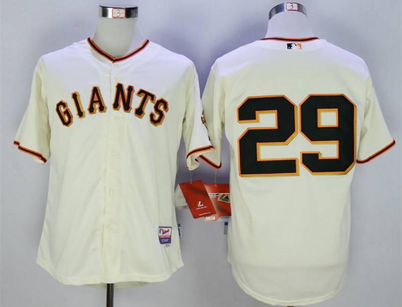 Men's San Francisco Giants #29 Hector Sanchez Cream Cool Base Jersey