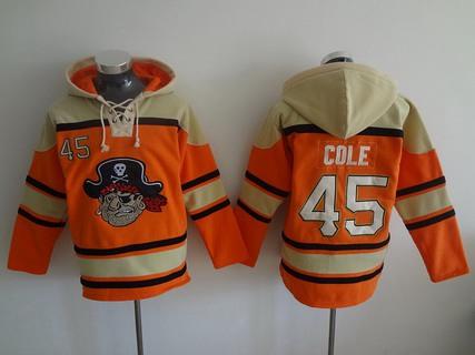 Men's Pittsburgh Pirates #45 Gerrit Cole Orange MLB Baseball Hoodie