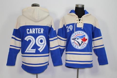 2f832887150 Toronto Blue Jays  29 Joe Carter Retired Player Blue Alternate MLB Hoodie