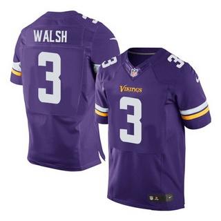 Men's Minnesota Vikings #3 Blair Walsh Purple Team Color NFL Nike ...
