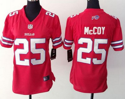 ce4eb18afc5 Women's Buffalo Bills #25 LeSean McCoy Nike Red Color Rush 2015 NFL Game  Jersey