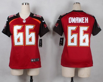 Women's Tampa Bay Buccaneers #66 Patrick Omameh Red Team Color NFL  free shipping