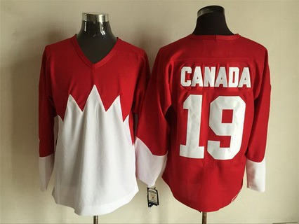 Men's Team Canada #19 Canada 1972 CCM Throwback Hockey Red Jersey