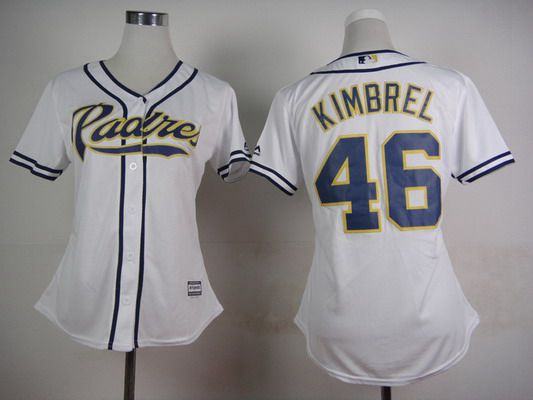 competitive price adc07 5236d Women s San Diego Padres  46 Craig Kimbrel Home White 2015 MLB Cool Base  Jersey
