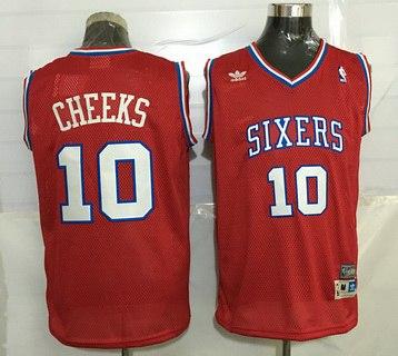 Philadelphia 76ers #10 Maurice Cheeks Red Hardwood Classics Soul Swingman Throwback Jersey