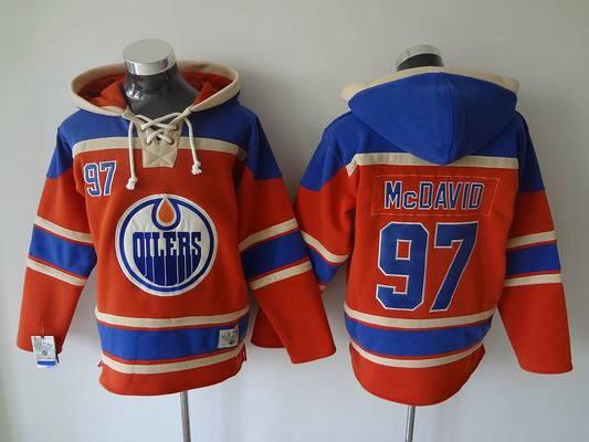 separation shoes 4ea60 dcef8 Men's Edmonton Oilers #97 Connor McDavid Old Time Hockey ...
