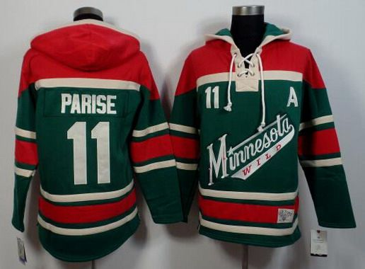 buy popular 52925 86e0c Men's Minnesota Wild #11 Zach Parise Old Time Hockey Green ...