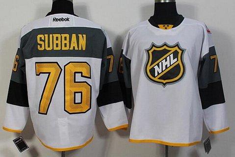 Men's Montreal Canadiens #76 PK Subban Reebok White 2016 NHL All-Star Premier Jersey