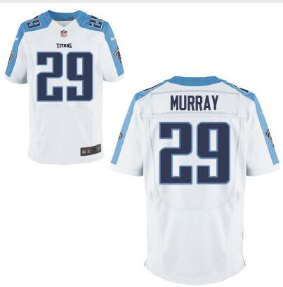 Men s Tennessee Titans  29 DeMarco Murray White Road NFL Nike Elite Jersey 27c2494d6