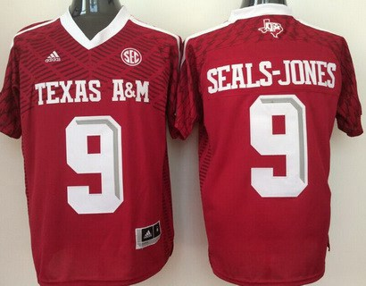 Men's Texas A&M Aggies #9 Ricky Seals-Jones Red 2016 College Football Nike Jersey