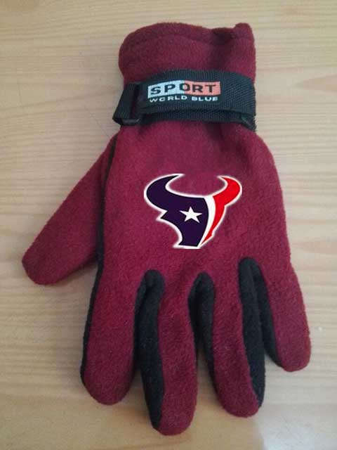 Houston Texans NFL Adult Winter Warm Gloves Burgundy