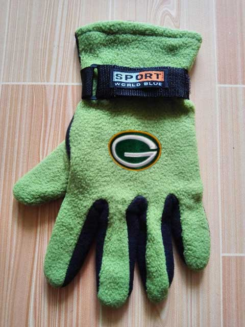Green Bay Packers NFL Adult Winter Warm Gloves Green