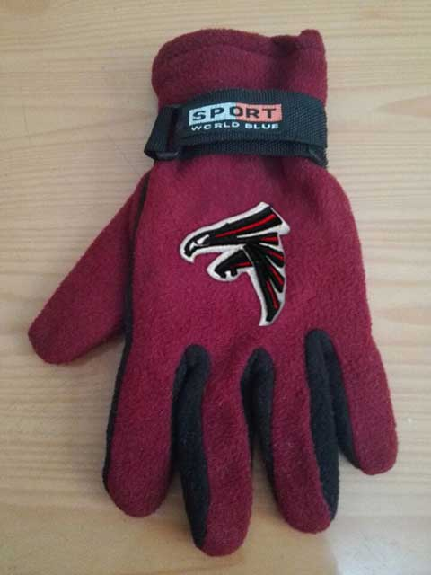 Atlanta Falcons NFL Adult Winter Warm Gloves Burgundy