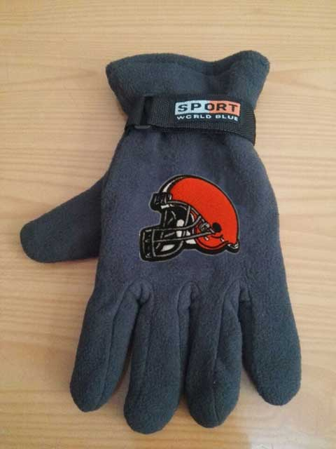Cleveland Browns NFL Adult Winter Warm Gloves Dark Gray
