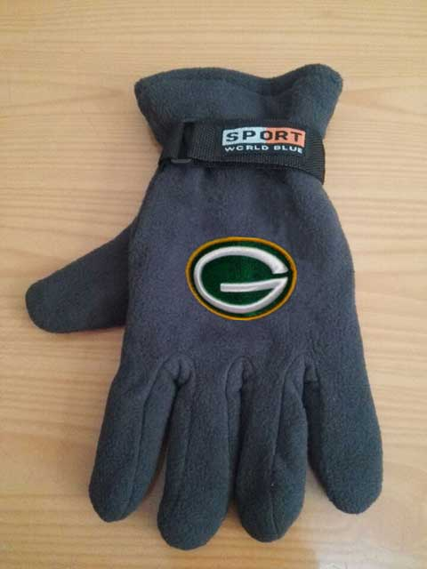 Green Bay Packers NFL Adult Winter Warm Gloves Dark Gray