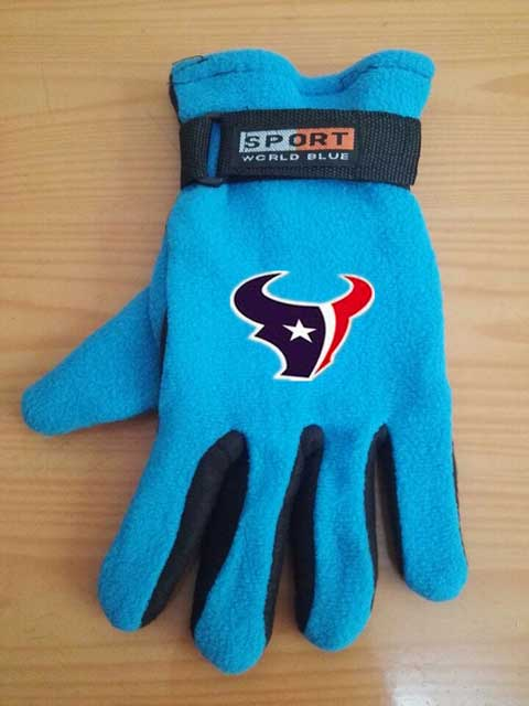 Houston Texans NFL Adult Winter Warm Gloves Light Blue